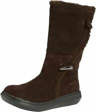 Rocket Dog Slope Chocolate Womens Suede Mid Calf Boots