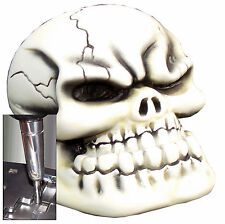 Bone Punchy Skull shift knob w/ chrome adapter for automatic shifters See desc.