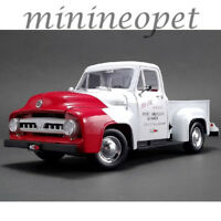 ACME A1807208 1953 FORD F-100 SO-CAL SPEED SHOP PUSH TRUCK 1/18 WHITE / RED
