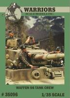 Warriors 1:35 Waffen SS Tank Crew - 4 Resin Bust Figures Kit #35096