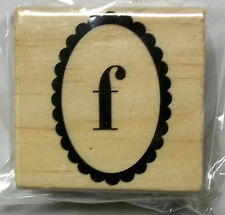 Lower Case  f   2 Inches square   Wood-mounted Rubber Stamp Michaels New
