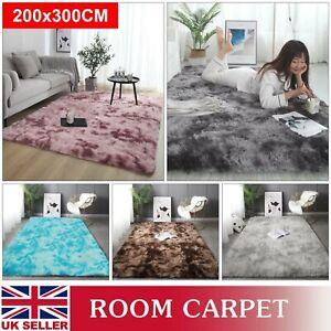 Fluffy Large Rugs Anti-Slip Soft Modern Carpet Mat Floor Living Room Bedroom Rug