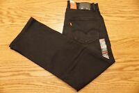 NWT MEN'S LEVI JEANS 559 Multiple Sizes Relaxed Straight Leg Black Stretch
