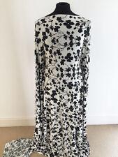 Black /Cream/Pink Shadow Florals on Viscose/lycra Jersey Fabric-2.5metres