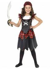 Pirate Skull & Crossbones Girl Costume Gothic Caribbean Buccaneer Fancy Dress Up