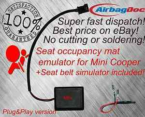 Airbag occupancy Sensor Emulator seat bypass Fits Mini Cooper r55 r56 OCS one