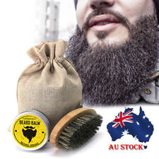AU!! Beard Care Beard Cream & Beard Comb Moisturizing Moustache Wax Kit 30g