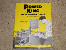 Power King Woodworking Tools Catalog 1950 *Free Shipping*