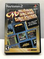 Midway Arcade Treasures (Sony PlayStation 2, 2003) Complete w/ Manual - Tested