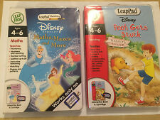 Leap Frog Leappad Patrone + Bücher Disney Prinzessin Mathe Labyrinthe + Pooh gets stuck