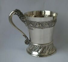 Quality Antique Victorian Solid Sterling Silver Cup/ Mug 1898/ H 9 cm/ 179 g