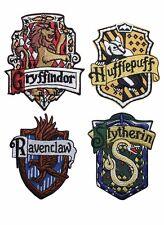 Harry Potter Hogwarts House Crests Robe Emblems Iron Applique Badges (Set of 4)