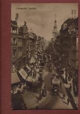 London. Cheapside. Looking East Street View Vintage  postcard  ca179
