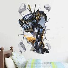 3D Broken Wall Transformers Removable Kids Wall Art Stickers Vinyl Decal Decor & Transformers Nursery Wall Décor | eBay