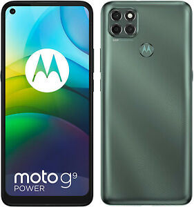 "New Motorola Moto G9 Power Green 6.8"" 128GB Dual SIM Android 10 Unlocked Sim Fre"