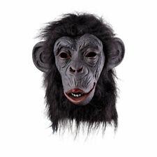 Gorilla Voller Kopf Latex Maske Halloween Erwachsene Kostüm King Kong Zubehör