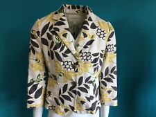 Banana Republic Linen Jacket with Floral Pattern