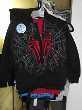 THE AMAZING SPIDER-MAN 2 BOYS 2PCJACKET SET SHERPA LINED 7/8 SIZE FREE SHIPPING
