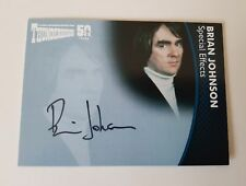 Unstoppable Cards Thunderbirds 50th Anniversary Brian Johnson Autograph Card