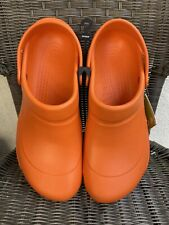 Crocs Mario Batali Bistro Edition Slip & Oil Resistant Size 12 Orange 10100-810