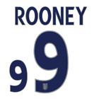 ROONEY #9 - ENGLAND 2005/07 NAMESET PRINT HIGH QUALITY PVC