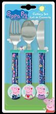 Peppa Pig Play Cool 3 Piece Round Cutlery Set For Kids