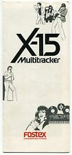 "Vintage ""FOSTEX"" Advertising Sales Brochure: ""X-15 Multitracker"""