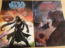 SDCC Comic Con 2012 Exclusive Star Wars Dawn of the Jedi / Knight Errant Poster