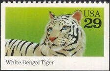 USA 1992 White Bengal Tiger/Cats/Animals/Nature/Wildlife 1v ex bklt (n44923)
