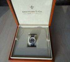 GOOD GENT'S DREYFUSS & CO, SPECIAL EDITION SKELETON WRISTWATCH, BOX & PAPERS,