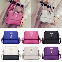Women Ladies Leather Shoulder Bag Deer Shell Handbag Messenger Crossbody Satchel