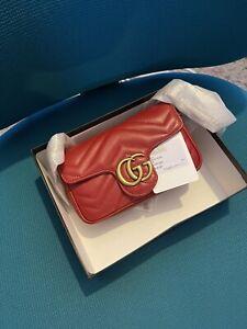 GUCCI GG Marmont Supermini shoulder bag Brand New Authentic