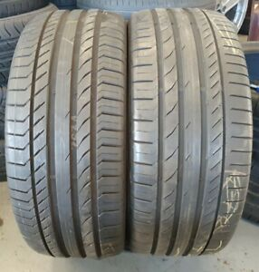 2X 255/45/20 101 W 5.5-7mm Continental ContiSportContact5 SUV AO (Ref 429)