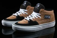 Vans Men's Half Cab Pro Skate Shoes Sneakers Camel Black NIB