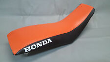 HONDA TRX300EX Seat Cover in 2-tone ORANGE & BLACK or 25 colors  (HONDA SIDES)