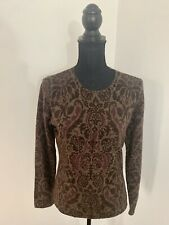 TWEEDS Lambswool Angora Knitted Paisley Floral Jumper Size S Knitwear