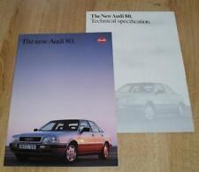 Audi 80 Saloon Brochure 1991 - 2.3 2.0 16v 2.8 V6 1.9 TD TDI Quattro