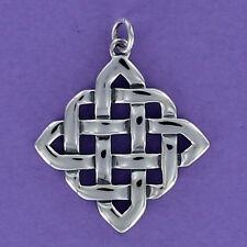 Celtic Knot Square Charm Sterling Silver for Bracelet Friendship Infinity Irish