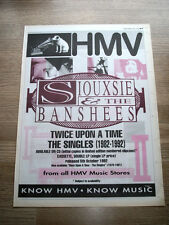 SIOUXSIE AND THE BANSHEES - TWICE UPON A TIME - VINTAGE advert A3 POSTER 1992