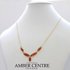 Italian Made Elegant Baltic Amber Necklace in 9ct Gold-GN0055 RRP£325!!!