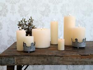 Macon Cream Pillar Candle, Paraffin Wax Rustic Lighting, Various Sizes