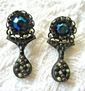 Like New-AYALA BAR-Exquisitely Crafted Earrings - Dark Colours!