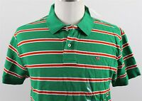 NWT Polo Jeans Ralph Lauren Slim Fit Flag Polo Shirt MENS LARGE Green Stripe