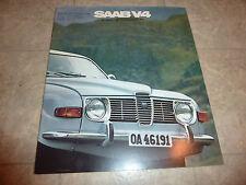 1971 SAAB V4 96 SEDAN & 95 STATION WAGON LITERATURE  BROCHURE PAMPHLET