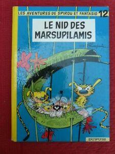 LES AVENTURES DE SPIROU ET FANTASIO 12 LE NID DES MARSUPILAMIS FRANQUIN 1964