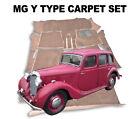 MG Y Type 1947 - 1953 Carpet set  - Superior Deep Pile, Latex Backed