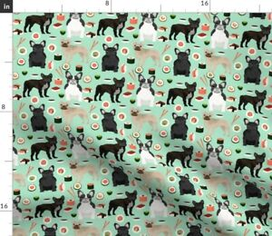 Dog Japan Dogs Kawaii Sushi French Bulldog Spoonflower Fabric by the Yard