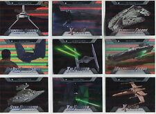 Star Wars Evolution 2016 Complete Evolution Of Vehicles Chase Card Set EV1-18