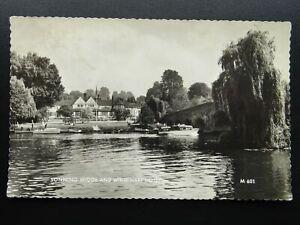 Berkshire SONNING BRIDGE & White Hart Hotel c1960s RP Postcard by Valentine