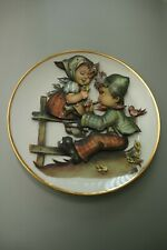 More details for thomas rosenthal girl and boy with flute rare 2001 plate with raised 3-d design